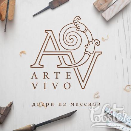 разработали логотип для фирмы Arte Vivo